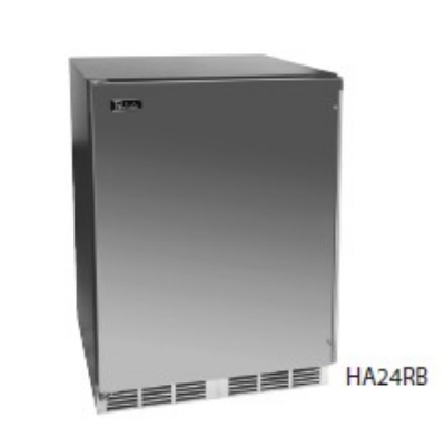 Perlick HA24BB-1R 4.3-cu ft Undercounter Refrigerator w/ (1) Section & (1) Door, 115v