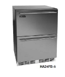 Perlick HA24FB-5DL 4.3-cu ft Undercounter Freezer w/ (1) Section & (2) Drawers, 115v