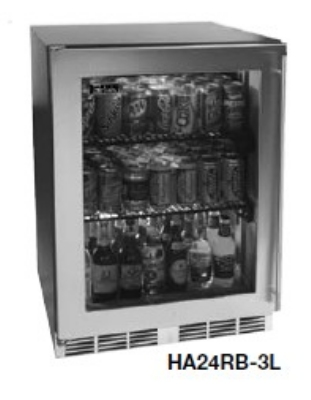 Perlick HA24RB-4L 4.3-cu ft Undercounter Refrigerator w/ (1) Section & (1) Door, 115v
