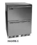 Perlick HA24RB-6DL 4.3-cu ft Undercounter Refrigerator w/ (1) Section & (2) Drawers, 115v