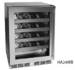 "Perlick HA24WB-4L 24"" One Section Wine Cooler w/ (1) Zone - 32-Bottle Capacity, 115v"