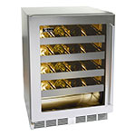 "Perlick HD24WS-67118T 24"" One Section Wine Cooler w/ (1) Zone - 20-Bottle Capacity, Glass Door, 115v"