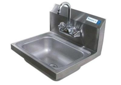 """Perlick HS17WM Wall Mount Commercial Hand Sink w/ 13.5""""L x 9.5""""W x 5""""D Bowl, Gooseneck Faucet"""
