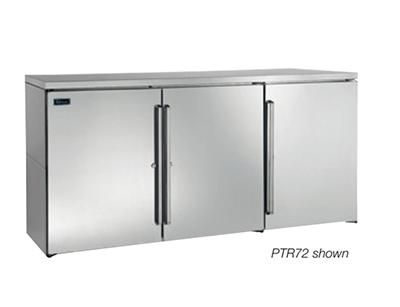 "Perlick PTR48 48"" (2) Section Bar Refrigerator - Swinging Solid Doors, 120v"