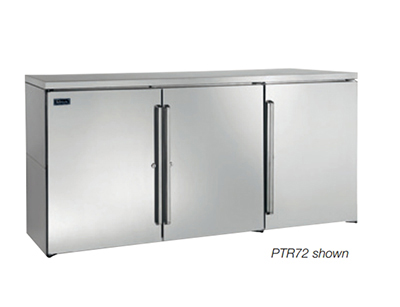 "Perlick PR72 72"" (3) Section Bar Refrigerator - Swinging Solid Doors, 120v"