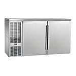 "Perlick PTS60 60"" (2) Section Bar Refrigerator - Swinging Solid Doors, 120v"