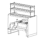 Perlick PTS54L-1 54-in Pass Thru Cocktail Station w/ Left Dual Sink, Stainless