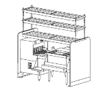 Perlick PTS66L-1 66-in Pass Thru Cocktail Station w/ Dual Sink, Stainless