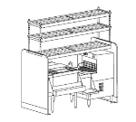 Perlick PTS66R 66-in Pass Thru Cocktail Station w/ 4-Bottle Wells, Stainless