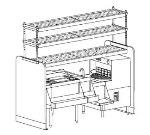Perlick PTS78R 78-in Pass Thru Cocktail Station w/ 4-Bottle Wells & Cover, Stainless