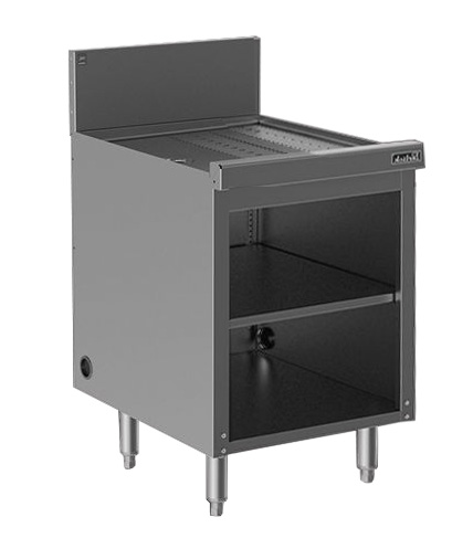 Perlick SC24 24-in Storage Cabinet w/ Open Base, Drainboard, Stainless