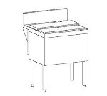 Perlick TSD18IC 18-in Modular Ice Chest w/ ABS Top Ledge, 35-lb Bin, Stainless