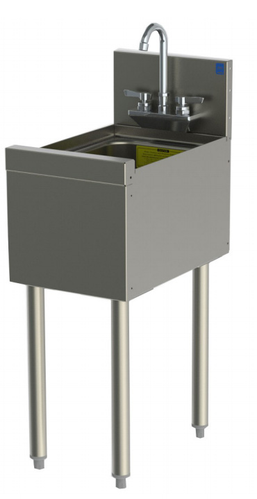 Perlick TS12HS 12-in TS Series Underbar Hand Sink Unit w/ 6-in Splash, Stainless