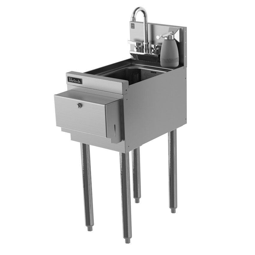 "Perlick TS12HSN-STK Commercial Hand Sink w/ 10""L x 14""W x 9.25""D Bowl, Soap Dispenser"