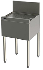 Perlick TS13 13-in Underbar Drainboard w/ Embossed Top, Stainless