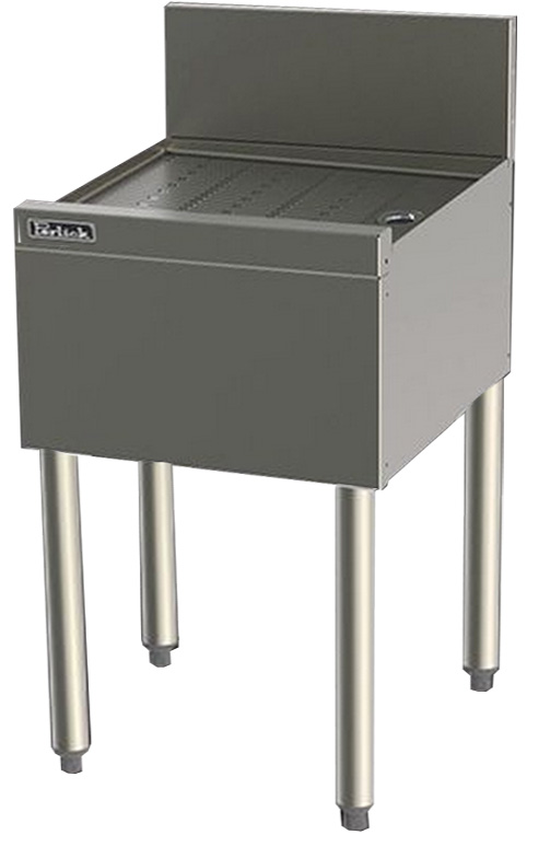 Perlick TS15 15-in Underbar Drainboard w/ Embossed Top, Stainless