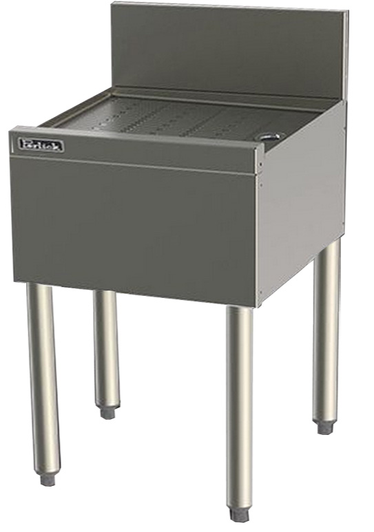 Perlick TS17 17-in Underbar Drainboard w/ Embossed Top, Stainless