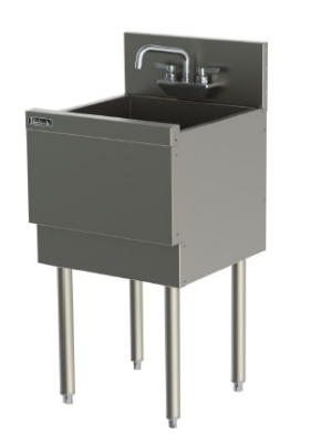 Perlick TS181CA 18-in Extra Capacity Underbar Sink w/ Legs, Stainless