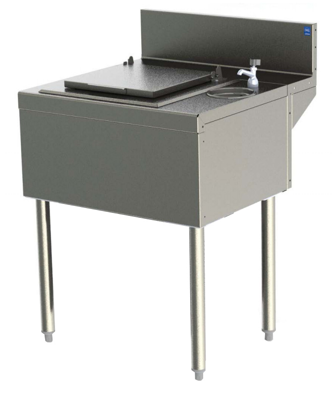 Perlick TS24DC 24-in Underbar Unit For Ice Cream Center w/ Dipper Well, Stainless