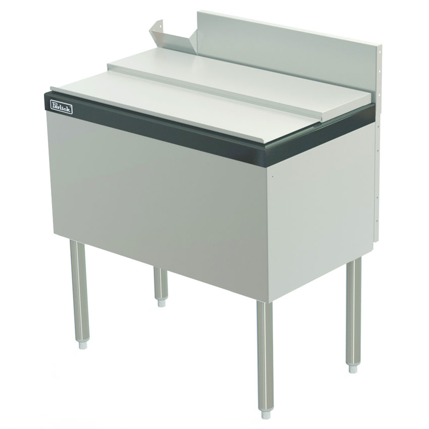 "Perlick TS24IC10-STK 24"" Under Bar Ice Bin w/ 50-lb Capacity - Stainless"
