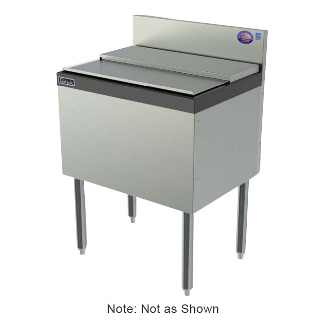 "Perlick TS24IC 24"" Modular Ice Bin/cocktail Unit, ABS Top Ledge, 50-lb, Stainless"