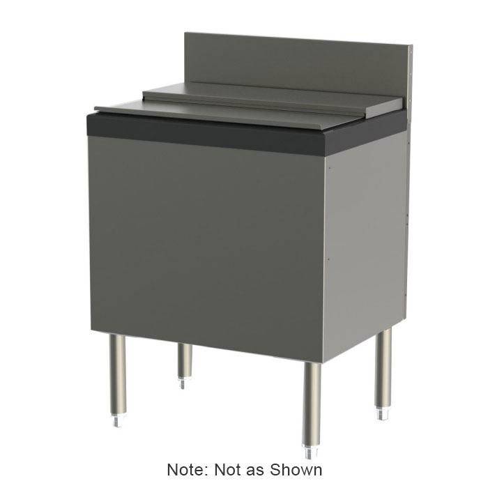 "Perlick TS24IC-EC10 24"" Extra Capacity Ice Bin/Cocktail Unit w/ 75-lb Capacity, 10-Circuit Cold Plate,"
