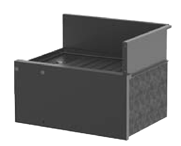 Perlick TS24RIC 24-in Corner Drainboard w/ 90-degree Inside Right Corner, Legs,
