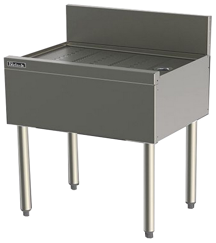 Perlick TS36 36-in Underbar Drainboard w/ Embossed Top, Stainless