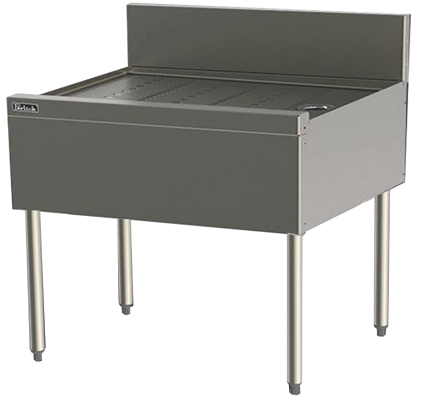 Perlick TS42 42-in TS Series Underbar Drainboard w/ Embossed Top, Stainless
