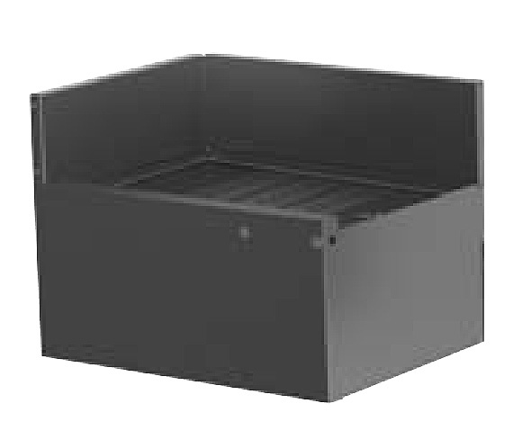 Perlick TSD24LIC 24-in Corner Drainboard w/ 90-Degree Inside Left Corner, Stainless