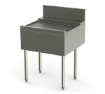 Perlick TSD48 48-in Underbar Drainboard w/ Embossed Stainless Top, Backsplash