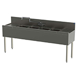 Perlick TSD94C 108-in Underbar 4-Compartment Sink Unit w/ (2) 30-in Drainboards