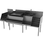 Perlick UCS72A 72-in Cocktail Station: Ice Chest, 12-in Drainboard, 1