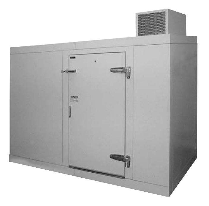 Perlick US10KP Refrigerated Walk-In Utility Cooler w/ 10-Keg Capacity, Galvanized Steel