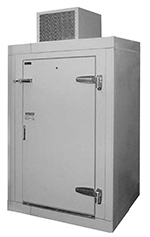 Perlick US4KP Refrigerated Walk-In Utility Cooler w/ 4-Keg Capacity, Galvanized Steel