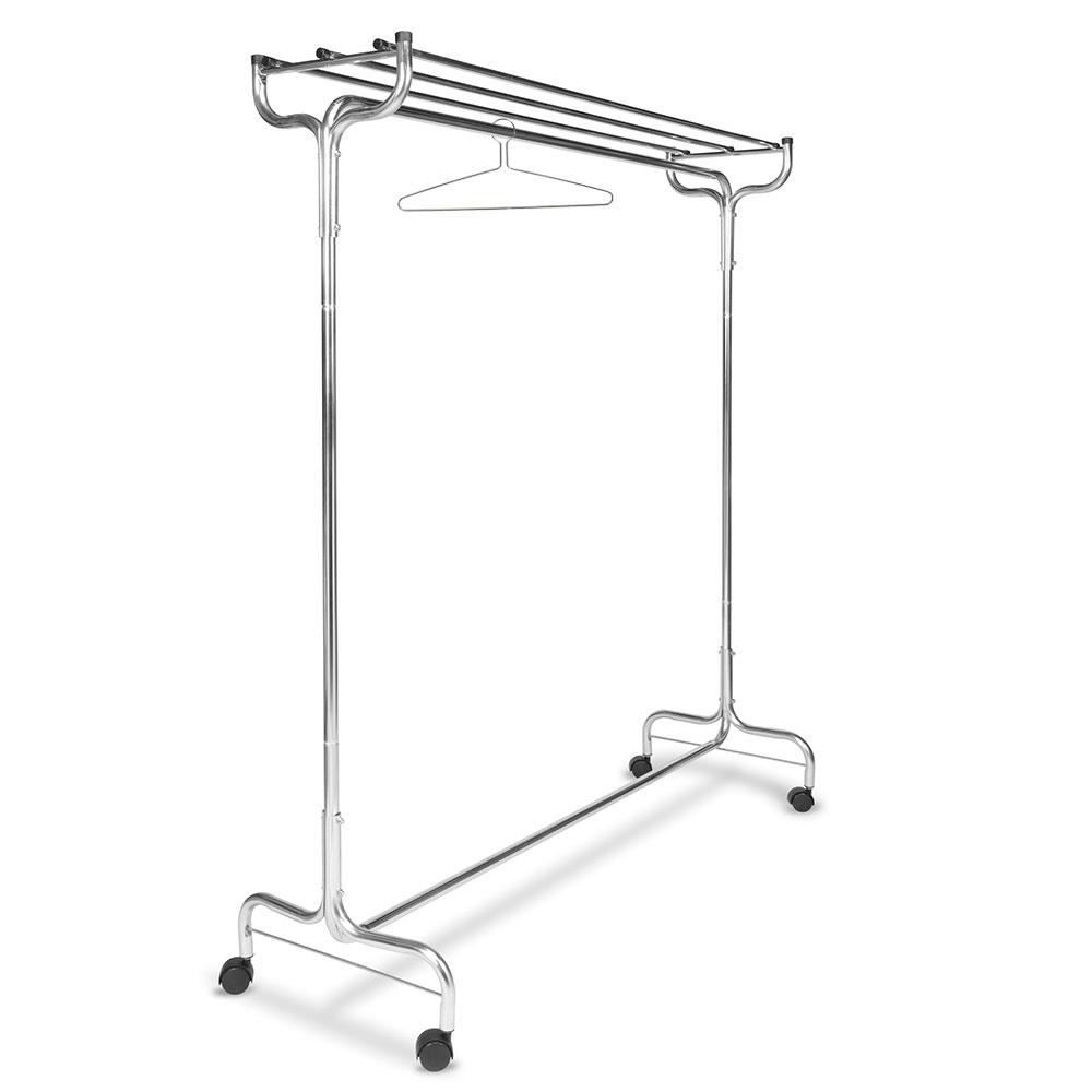 "CSL 1075-48P 48"" Portable Valet w/ Hat Rack, 12-Perma-Hangers, Chrome"