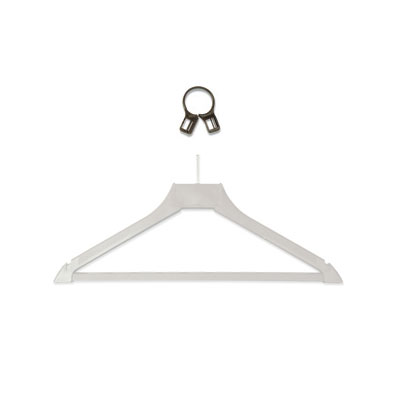 CSL 1162 Anti-Theft Ring For Hanger, Fits Ball Top, Brown Plastic