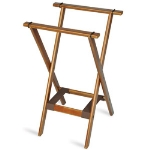 CSL 1170BSO-1 Deluxe Tray Stand w/ Bottom Brown Strap, Wooden
