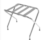 CSL 155C-SV-1 Luggage Rack w/ Silver Straps, Flat Top, Chrome
