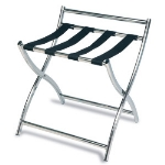 CSL 199SS-BL 22.5-in Luggage Rack w/ 4-Black Straps, Stainless