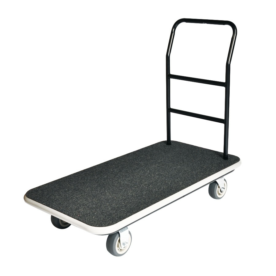 CSL 2100GY-090-GRY Hotel Luggage Cart Truck w/ Gray Carpet, Black