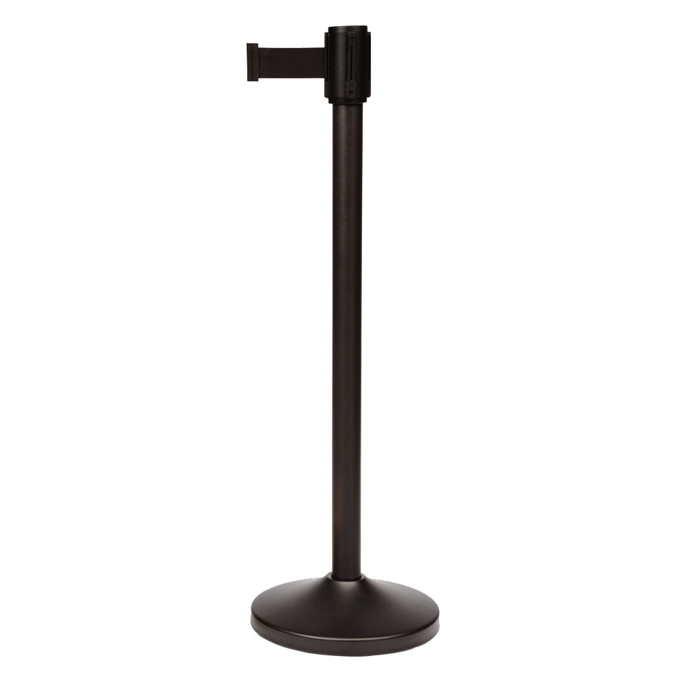 CSL Foodservice & Hospitality 5500BK-BLK 39-in Portable Crowd Control Stanchion, Black Stainless