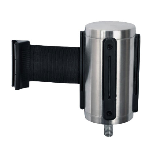 CSL 5521-BLK Belt Head w/ 9.5-ft Black Belt, Brushed Stainless