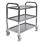 CSL 6300 Service Trolley w/ 3-Shelves, Stainless