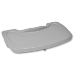 CSL Foodservice & Hospitality 851DGY Plastic High Chair Tray, Gray