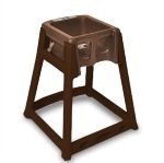CSL Foodservice & Hospitality 866-BRN High Chair Infant Seat w/ Dark Brown Seat & Frame