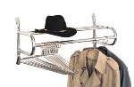 "CSL 1056-16 16"" Wall Mount Valet w/ Shelf & Hanging Rod, Chrome"