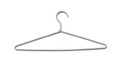 "CSL 1062 17"" Hanger w/ Open Hook, Chrome Plated Frame"