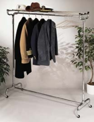 "CSL 1075-36P 36"" Portable Valet w/ Hat Rack, 6-Perma-Hangers, Chrome"