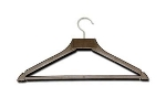 CSL 1160 17-in Hanger w/ Open Hook, Brown Plastic